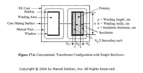 transformer winding inductance transformer winding method for barrel wound secondary center taped ee electrical