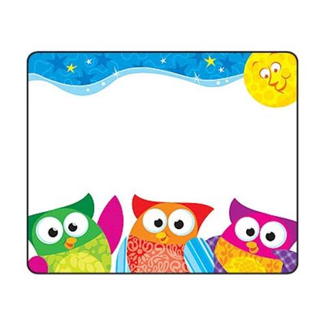 free printable owl nameplates 36 owl stars owl name tag stickers school labels party