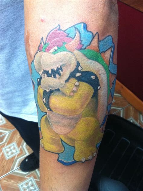 wkuk tattoo mario bros bowser tattoos