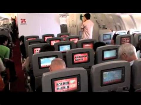 review airasia x economy class from taipei to kuala airasia x inflight entertainment youtube