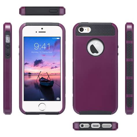 rugged iphone 5s shockproof rugged hybrid rubber cover for apple iphone 5s 5 se ebay