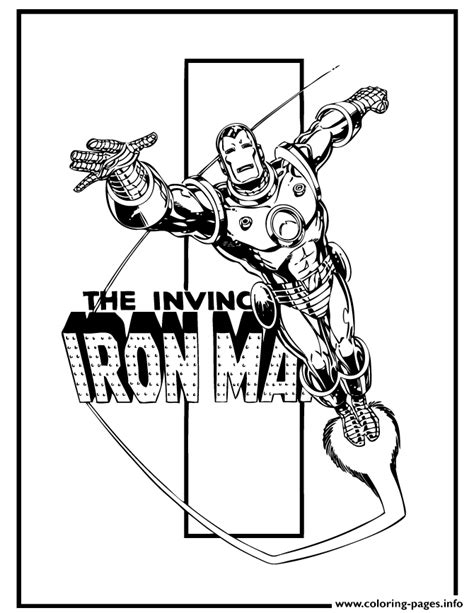 printable iron man comics the invincible iron man comic book coloring pages printable