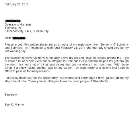 Resignation Letter Format Ph Redpill Resignation Letter I Quit
