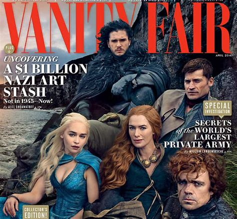 Cast Of Vanity Fair by Of Thrones Cast On Vanity Cover