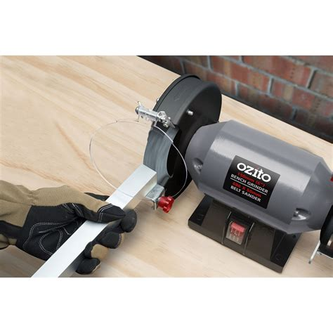 bench grinder belt sander ozito 240w bench grinder and belt sander bunnings warehouse