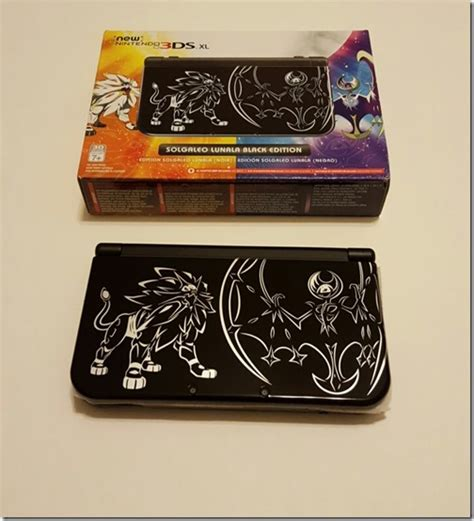 New 3ds Xlusa Black Termurah here s a better look at the solgaleo lunala black edition