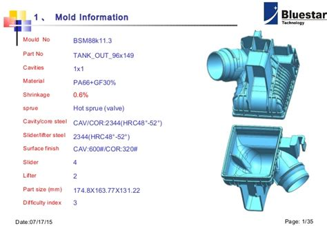design for manufacturing slideshare dfm design for manufacturing exle bluestar mould