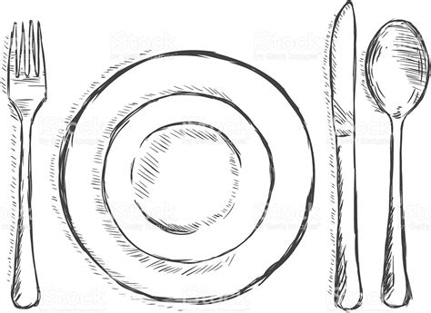 sketchbook vector messer und gabel clipart schmauchbrueder