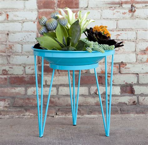 Modern Metal Planters by Modern Planters Made From Salvaged Metal Desert