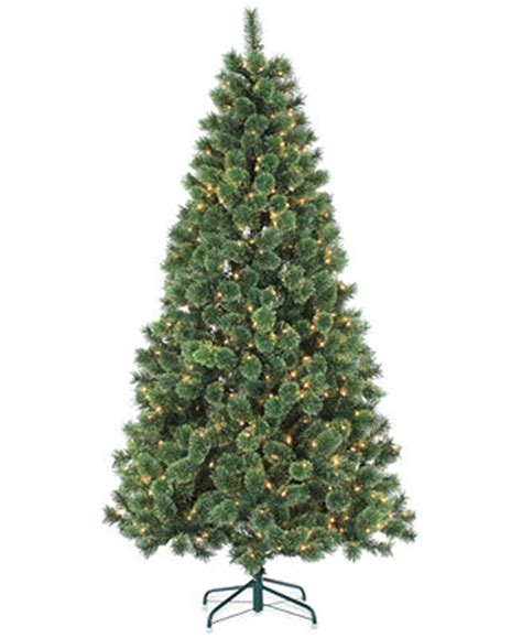 sterling hard needle 7 pre lit artificial christmas tree