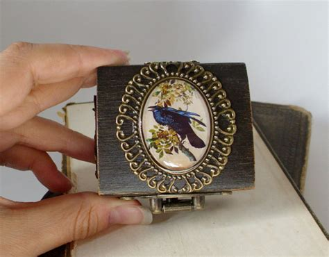 the engagement ring box in black poe inspired