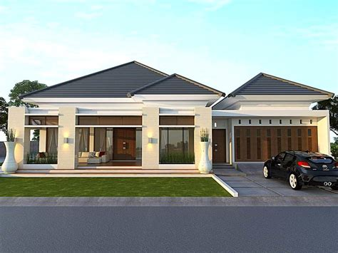 Desain Depan Rumah Minimalis 1 Lantai | desain rumah minimalis type 45 1 lantai tak depan