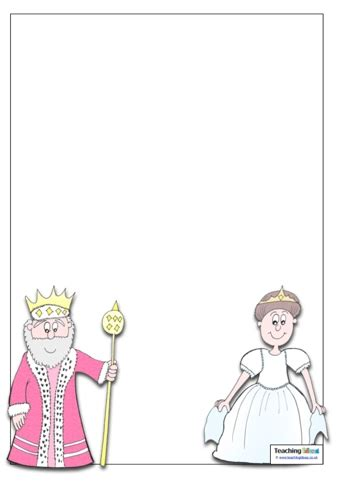 king and queen template teaching ideas