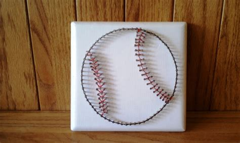 What Size Nails For String - baseball string template string baseball by
