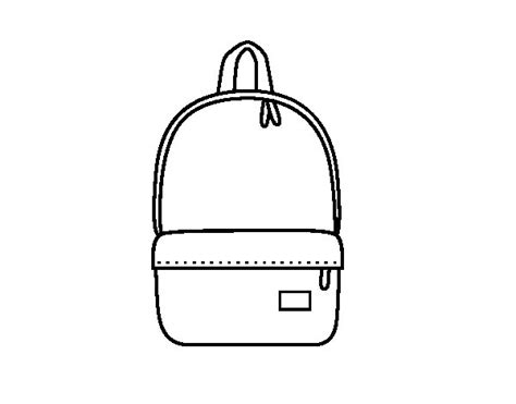 backpack template for coloring coloring pages