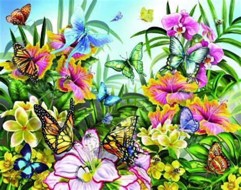 flower garden with butterflies butterflies in the garden f1c flowers nature
