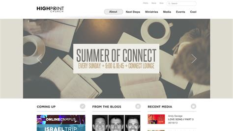 best church websites 15 of the best church website designs 2013