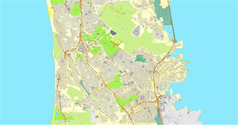 san francisco map vector free san francisco california us exact map adobe pdf