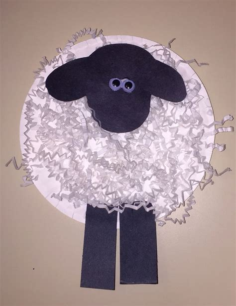 Crafts With Shredded Paper - farm animal unit paper plate sheep using gift wrap