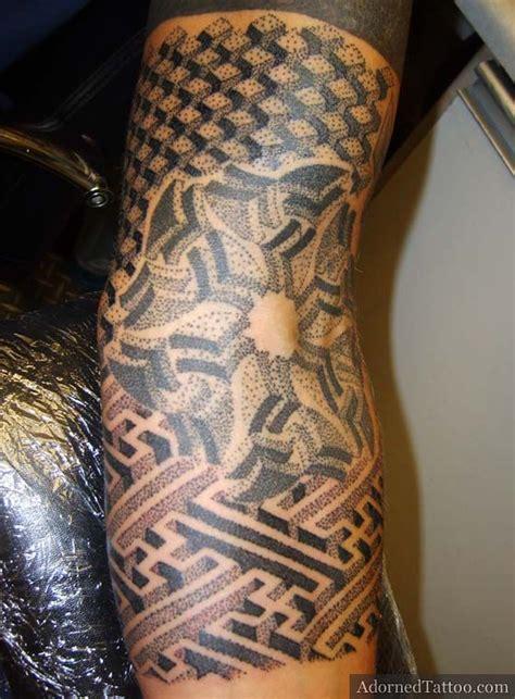 geometric tattoo elbow black geometric sleeve tattoo awesome tattoo ideas