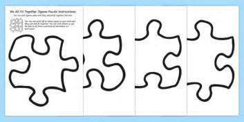 We All Fit Together Class Portrait Jigsaw Puzzle Jigsaw Jigsaw Activity Template