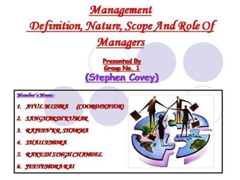 Scope Mba Media Management by Nature And Scope Of Management Authorstream