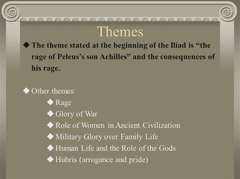 themes in book 4 of the odyssey the iliad an epic poem by homer written around 750 b c