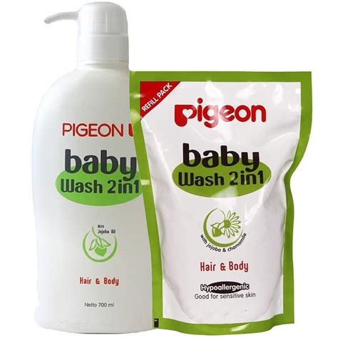 Pigeon Baby Powder Refill Isi Ulang pigeon baby wash 2 in 1 with refill justbabymart pk