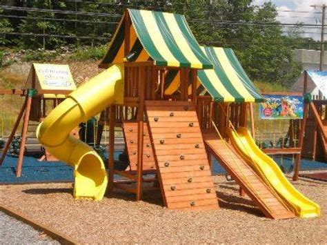 painted wooden swing sets how and when to stain your wooden swing set southeast