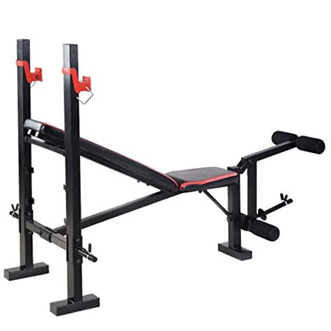 adjustable weight lifting bench goplus red adjustable weight lifting flat incline bench fitness body workout