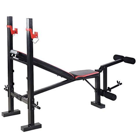 weight lifting flat bench goplus red adjustable weight lifting flat incline bench