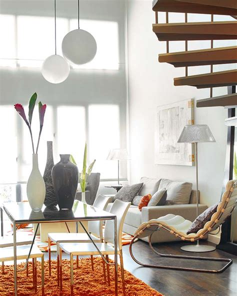 small loft featuring bright vividly colored spaces