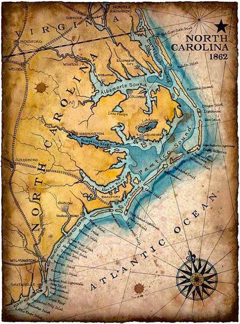 henna tattoos corolla nc carolina coast map c 1862 11 x 15