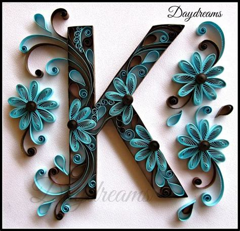 printable letters for quilling typographie paperolles and fleur on pinterest