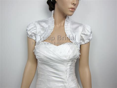 white bolero jacket wedding sleeve wedding satin bolero jacket