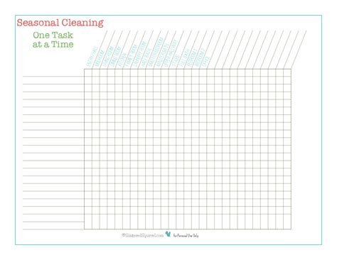 day 1 seasonal cleaning checklists scattered squirrel