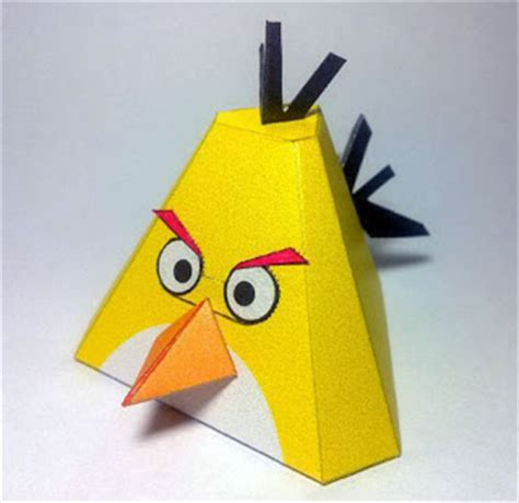 Angry Birds Paper Crafts Gadgetsin by Animes E Papercraft Angry Birds