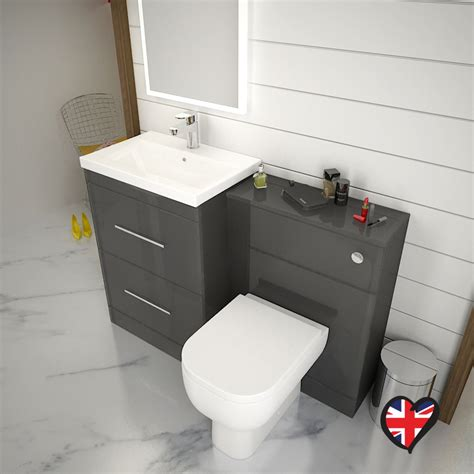grey bathroom furniture patello 1200 bathroom furniture set grey buy at bathroom city