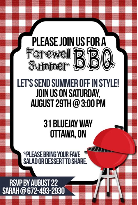 Bbq Party Invitation Templates Free Orderecigsjuice Info Summer Bbq Invite Template
