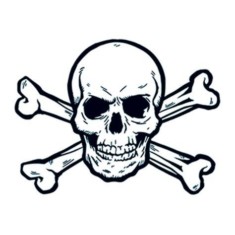skull and cross bones tattoo skull and crossbones temporary goimprints