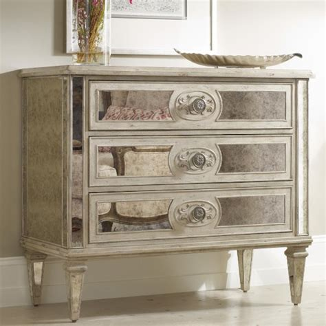 Hooker Furniture Living Room Accents 3 Drawer Antique Living Room With Mirrored Furniture
