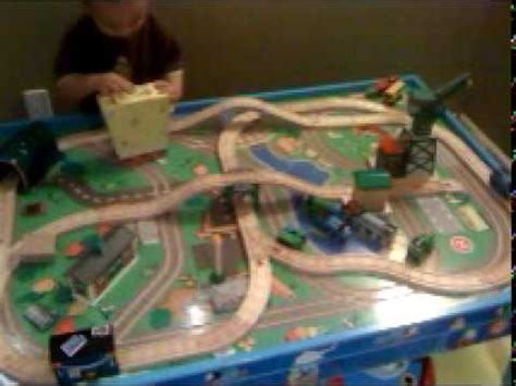 thomas the tank engine train table thomas the tank engine train track table setup 1 youtube