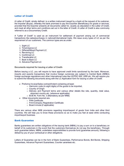 guarantee cancellation letter to bank letter of credit and bank guarantee letter of credit
