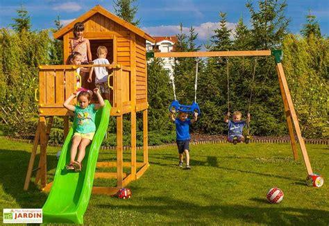 aire de jeux balancoire toboggan aire de jeux my house move toboggan cabane