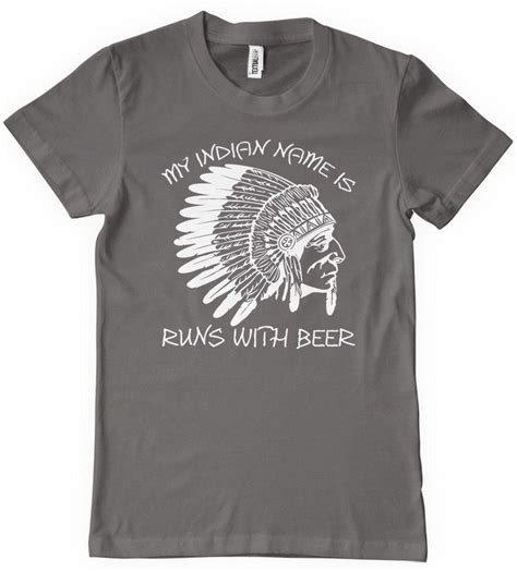 design my t shirt india my indian name is runs with beer funny drinking t shirt