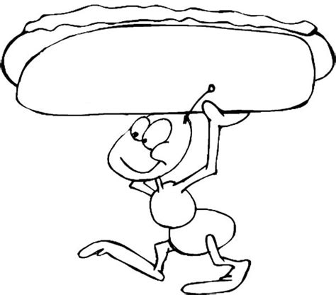 coloring pages of hot dogs fire ants holding hot dog coloring pages best place to color