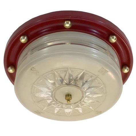 nautical flush mount ceiling light 1940s flush mount nautical theme ceiling l by lightoier
