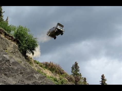 geo tracker and ford bronco jumps off a 300' cliff youtube