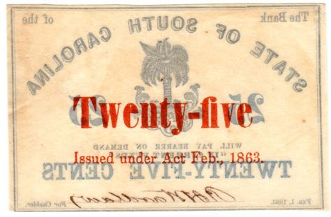 i bank sh 0135 sh 516 25 cent bank of the state of south carolina au