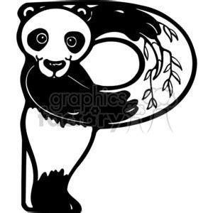 Royalty-Free Letter P Panda 380190 vector clip art image ... Girl Soccer Silhouette Clip Art